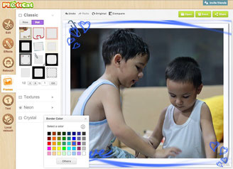 Photocat is an easy photo frame and border maker to master
