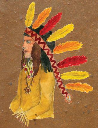 Grußkarte Indianer