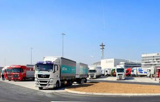 New truck stop at Frankfurt's CargoCity South  /  courtesy Fraport