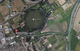 Veduta aerea del Porto di Traiano, Google Maps