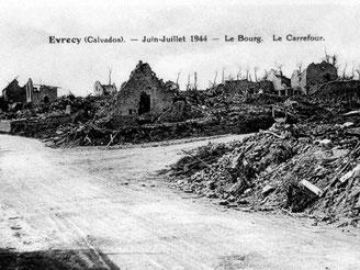 Ruines d'Evrecy bombardé