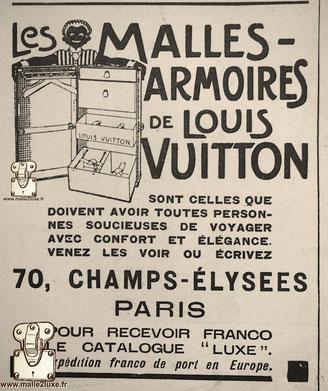 les malles armoires Louis vuitton