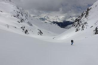Skitour, Skihochtour, Col des Arpettes, Val d' Anniviers, Wängerhorn, Brunegghorn, Turtmannhütte