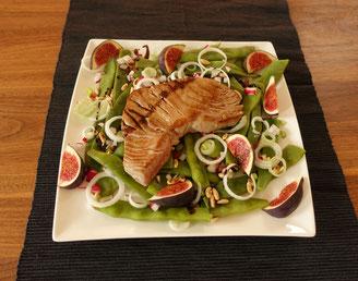 Bohnenslata, Thunfisch, gesundes Essen, Protein und Salat, Sportlernahrung, healthy food
