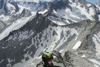 Albigna, Piz Casnil, Bergschuhklettern, Überschreitung, Südgrat, Pass da Casnil Nord