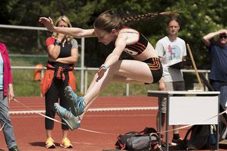Chance genutzt: Beim Schülermehrkampf in Coesfeld erfüllte Malin Böhl die Norm für die Deutschen Meisterschaften im Juli in Lage.