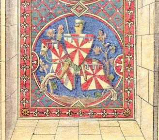 Chevalier armé de toutes pièces. Source Gallica-BNF.