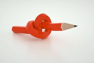 Bleistift mit Knoten
