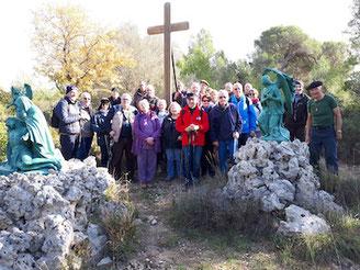 Le groupe des marcheurs de l'ANOCR 34-12-48 le 19 novembre 2019