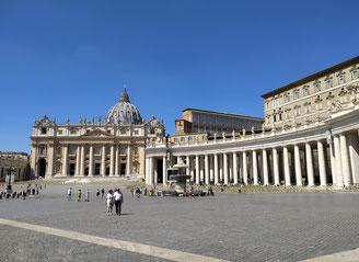 Экскурсия по Риму и Ватикану за 1 день, площадь св. Петра в Ватикане