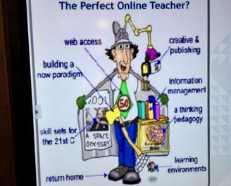Illustration einer perfekten Online-Lehrkraft