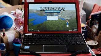 Minecraft Startoberfläche