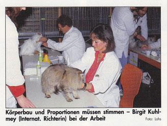 Birgitta Kuhlmey, Bewertungsrichterin für Rassekatzen, 1993
