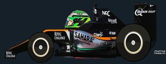 "Nicolas Hülkenberg, el ""otro Nico"",  by Muneta & Cerracín  - Force India  VJM09 - Mercedes PU106C V6"