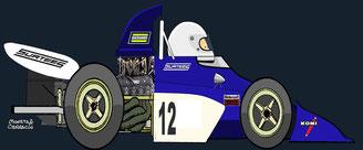 Tim Schenken by Muneta & Cerracín - Surtees TS9B - 1972