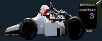 Martin Brundle by Muneta & Cerracín. Cuarta posició de Martin con su Tyrrell 015 en el LI Australian Grand Prix de 1986