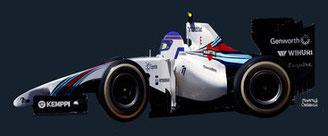 Valtteri Bottas by Muneta & Cerracín - Valtteri Bottas segundo en Silverstone en 2014 con su Williams FW36 - Mercedes V6