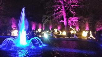 Schlosspark Friedrichsfelde, Illumination