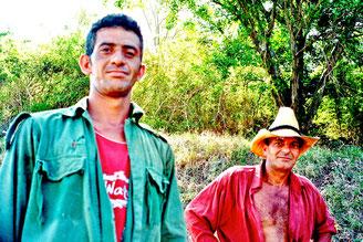Waldarbeiter auf der Collantes