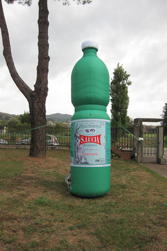 Inflatable Bottlle - Santa Lucia Mineral Water m 4 h