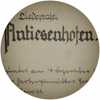 Titelblatt der ersten Chorchronik der Liedertafel von 1933
