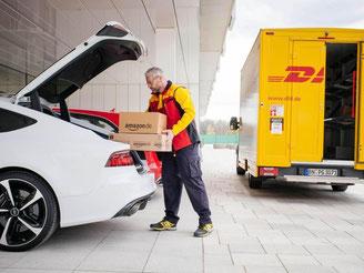 Amazon testet in Deutschland die Lieferung von Bestellungen in den Kofferraum der Kunden. Foto: Amazon