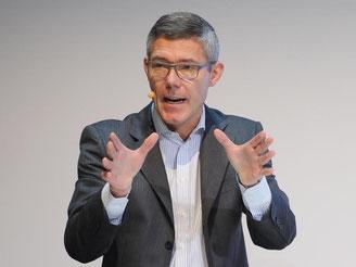 Christian P. Illek 2013 bei der Eröffnung «Microsoft Berlin». Foto: Britta Pedersen/Archivbild