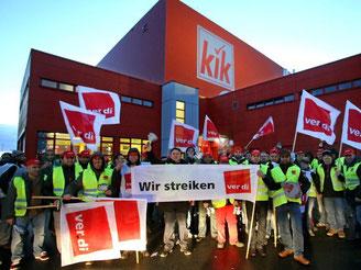 Keine Einigung in Sicht im Tarifstreit beim Textil-Discounter KiK. Foto: Roland Weihrauch