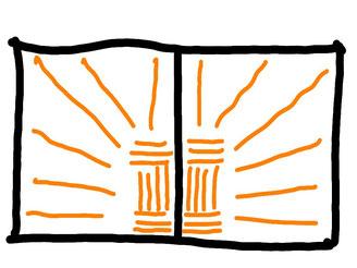 Skizze eines Mosaikdamastpaketes