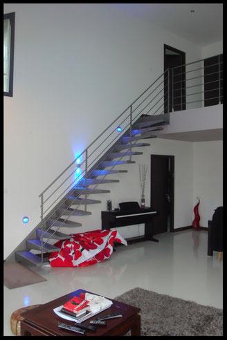 escalier et rampant tout métal design l' atelier Carrotte