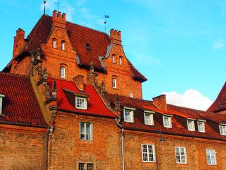 in Danzig gibt es auch einfachere Stadthäuser