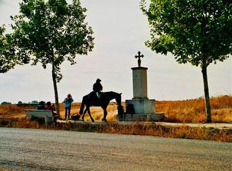 Pilger auf dem Pferd waren seltener