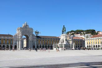 Praca do comercio a Lisbona