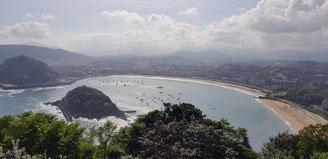San Sebastian: la baia vista dal Monte Igueldo