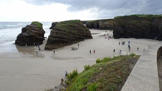 La spettacolare Playa de As Catedrais (Le Cattedrali)