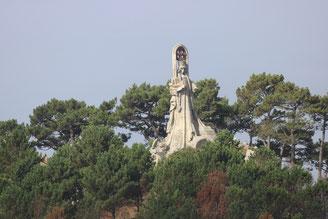 Baiona: Virgen de la Roca sul Monte Sanson
