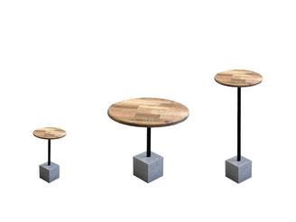 CUBO Beton  Beistelltisch Bistrotisch Couchtisch Restauranttisch runder Tisch Stehtisch Partytisch Wohnzimmertisch Küchentisch Sofatisch Esstisch fattoAmano Beton Design