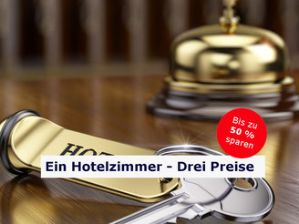 CheckEinfach | Ein Hotelzimmer - Drei Preise