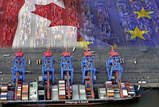 Das Freihandelsabkommen zwischen der EU und Kanada soll den Handel stärken. Foto: typomaniac (Fotolia)/dpa
