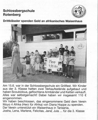 Artikel in der Rauenberger Rundschau