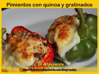 Pimientos rellenos de quinoa y gratinados Herbolario Alquimista Arrecife Lanzarote
