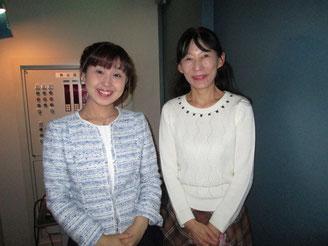 舞台袖で國分久美恵さんとMiyukiさん
