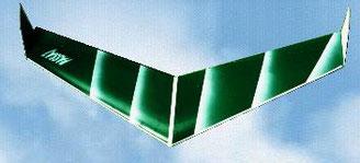 aile voilante Passaj Aeromod blanche et verte