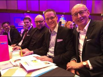 v.l.n.r.: Rainer Gellermann, Patrick Büker, David Luge, Thorsten Baumgart, Hermann Ludewig
