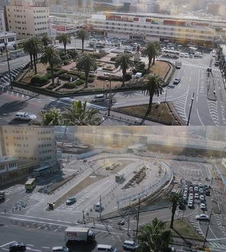 大分駅前改造の案(2014年)