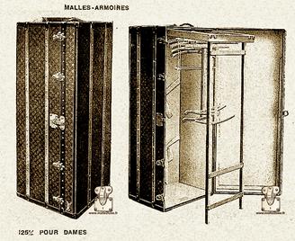 Malle courrier Louis Vuitton 1913