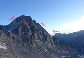 Albigna, Klettertour, Bergschuhklettern, Piz Casnil Ostgrat, Einstieg, Topo, Südgrat, Pass da Casnil Su
