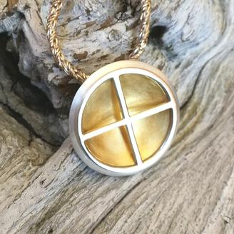 Schmuckanhänger Silber Gold rund