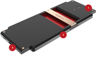 concept of a modular smartphone: PuzzlePhone