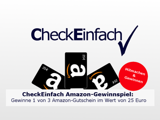 CheckEinfach | Amazon-Gewinnspiel